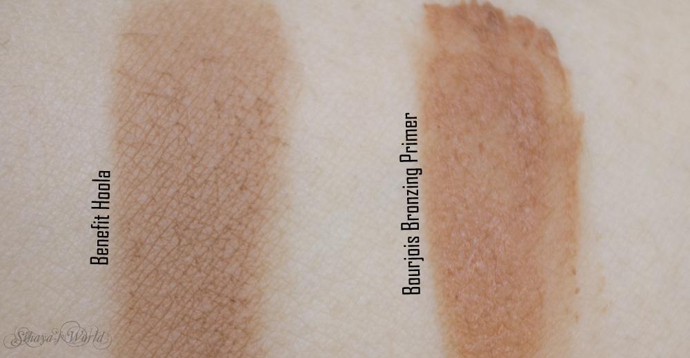 Benefit Hoola Bourjois Bronzing Primer swatches