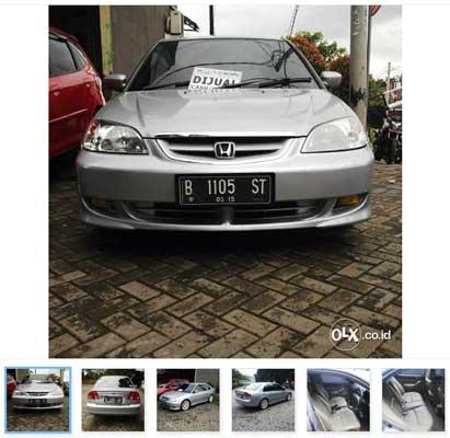 Mobil Bekas Honda Civic Vtis At 2005 Warna Silver