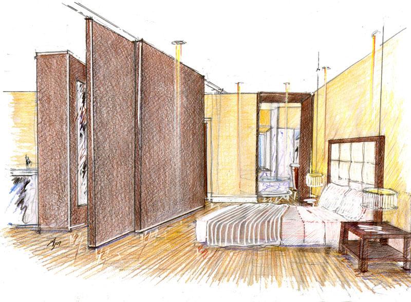 Vent 39 anni di disegni dell 39 arch antonio saporito schizzi for Disegnare interni casa