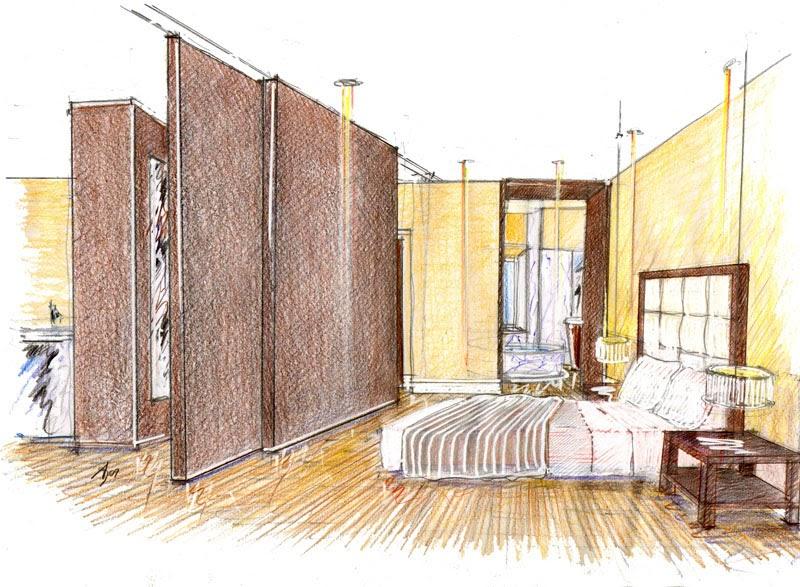 Vent 39 anni di disegni dell 39 arch antonio saporito schizzi for Arredamento architettura interni