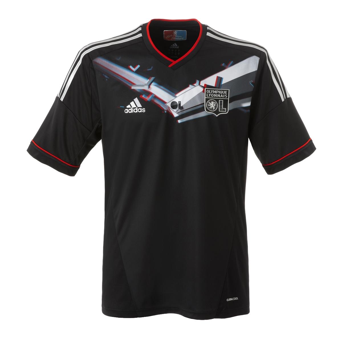 ... imágenes del Maillot 3D officiel Adidas Olympique Lyonnais 2012/2013