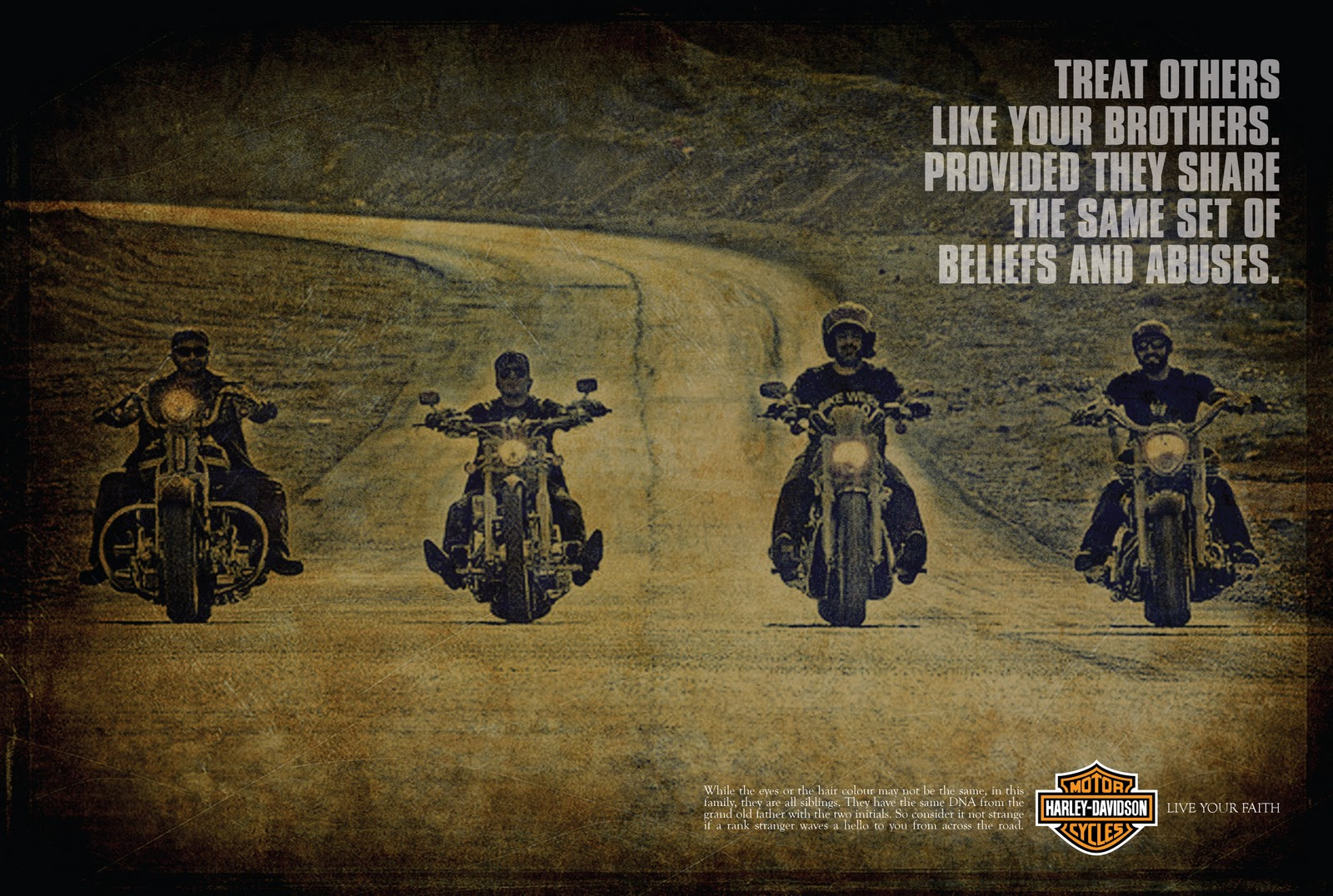 ALL WE NEED IS LOVE.: HARLEY-DAVIDSON - RELIGION