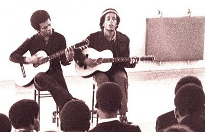 Johnny Nash & Bob Marley Play A One Time Acoustic Gig In London In 1972