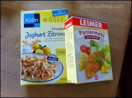 Kölln Knuspermüsli Joghurt Zitrone und glutenfreies Paniermehl von LAIMER