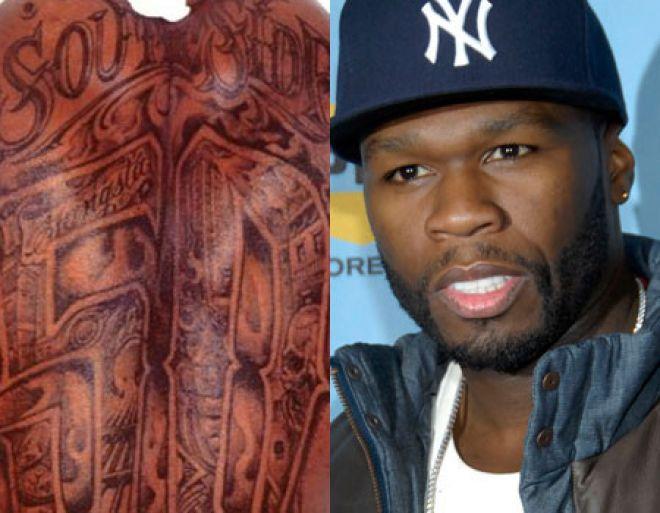 Tattoos & Piercing: 50 Cent get unfortunate tattoo