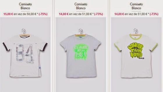 Camisetas niños Gas