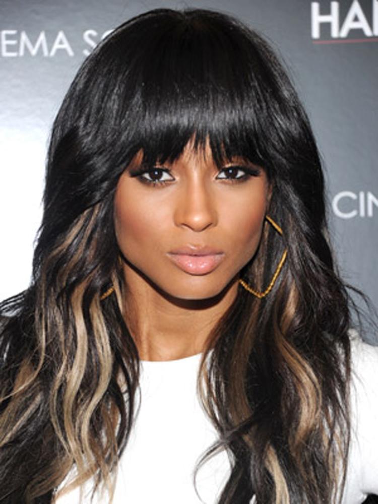 Popular Celebrity Bang Hairstyles Ciara