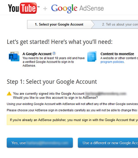 associate a different or Multiple Youtube channel  with single adsense account-006