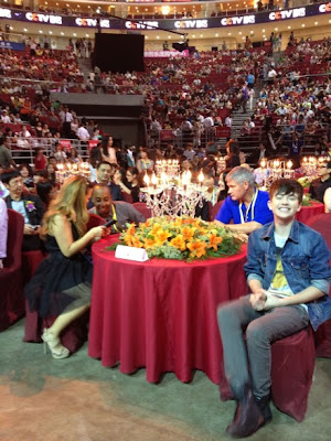 Greyson Chance with his dad Scott, Michael Warren, and Staci at MTV Awards in Beijing China