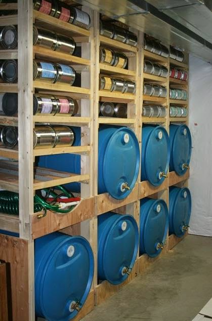 water storage & Long Term Food Storage In The Event Of An Emergency