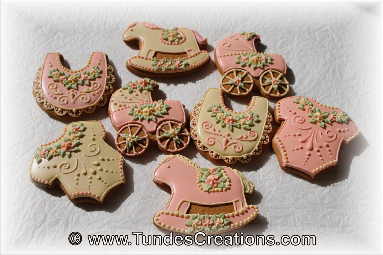 Baby shower cookies -baby shapes