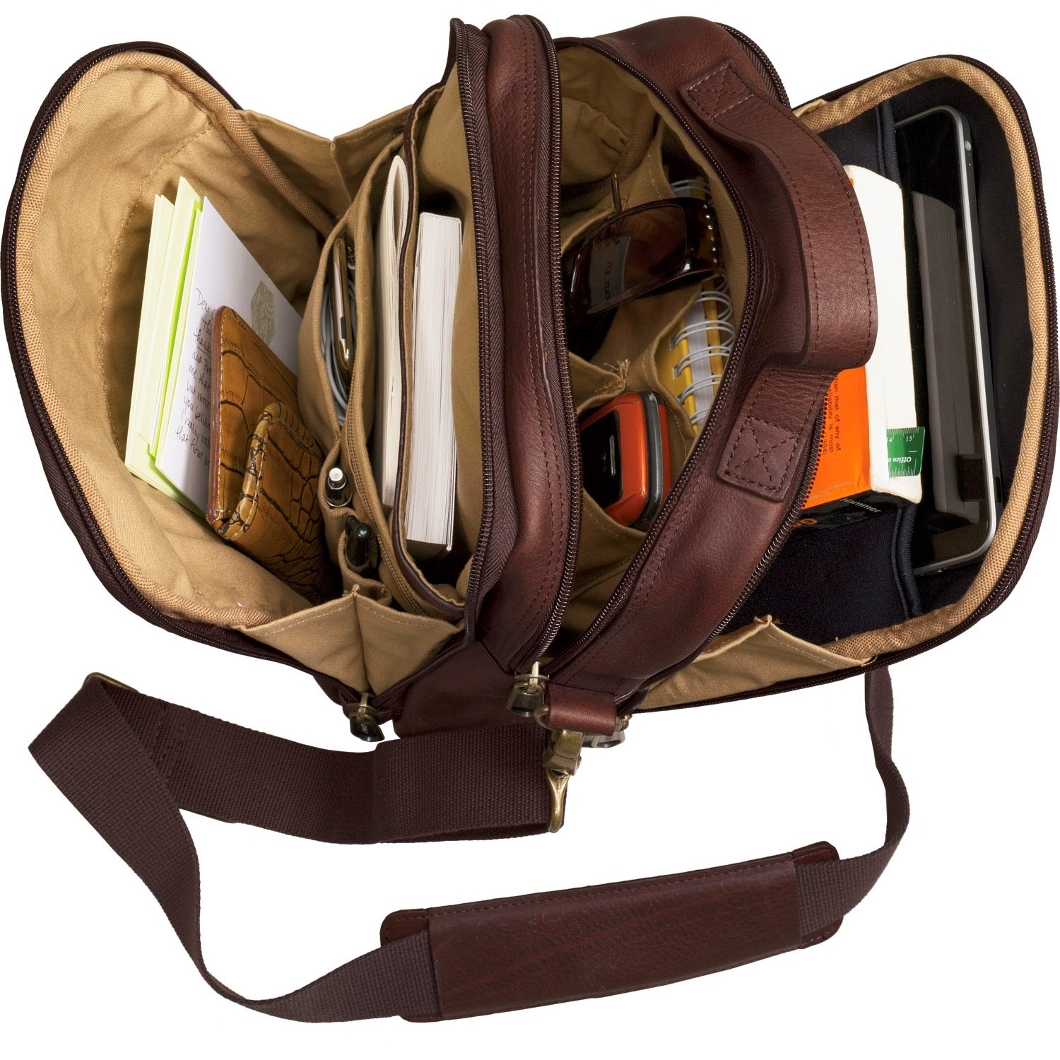 Leather Organizer Bag Leather Travel Bag is