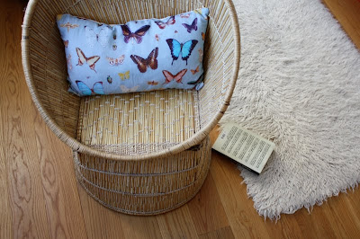 Colourful linen cushion by Ella Doran