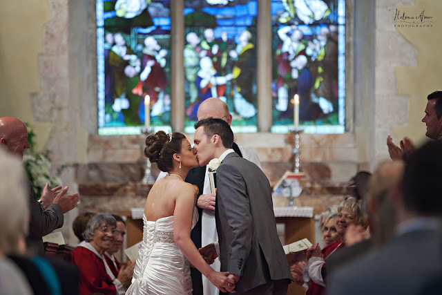 you may now kiss the bride at St Leonards Bursledon wedding