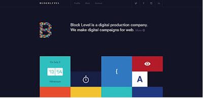Web Design blog Flat Untuk Landing Page