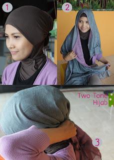Tutorial Hijab Two Tone