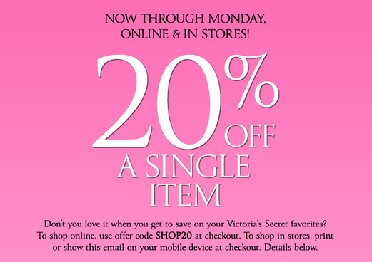 Victoria secret printable coupons 10 off any purchase