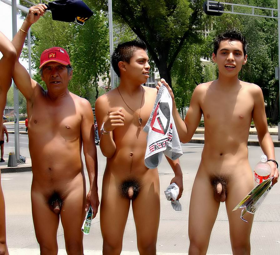 Naked mexican protest