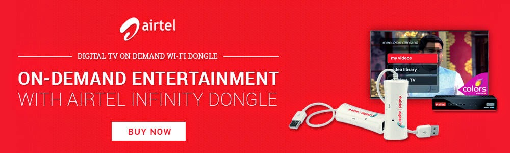 Airtel's TV On-Demand Wi-Fi Dongle