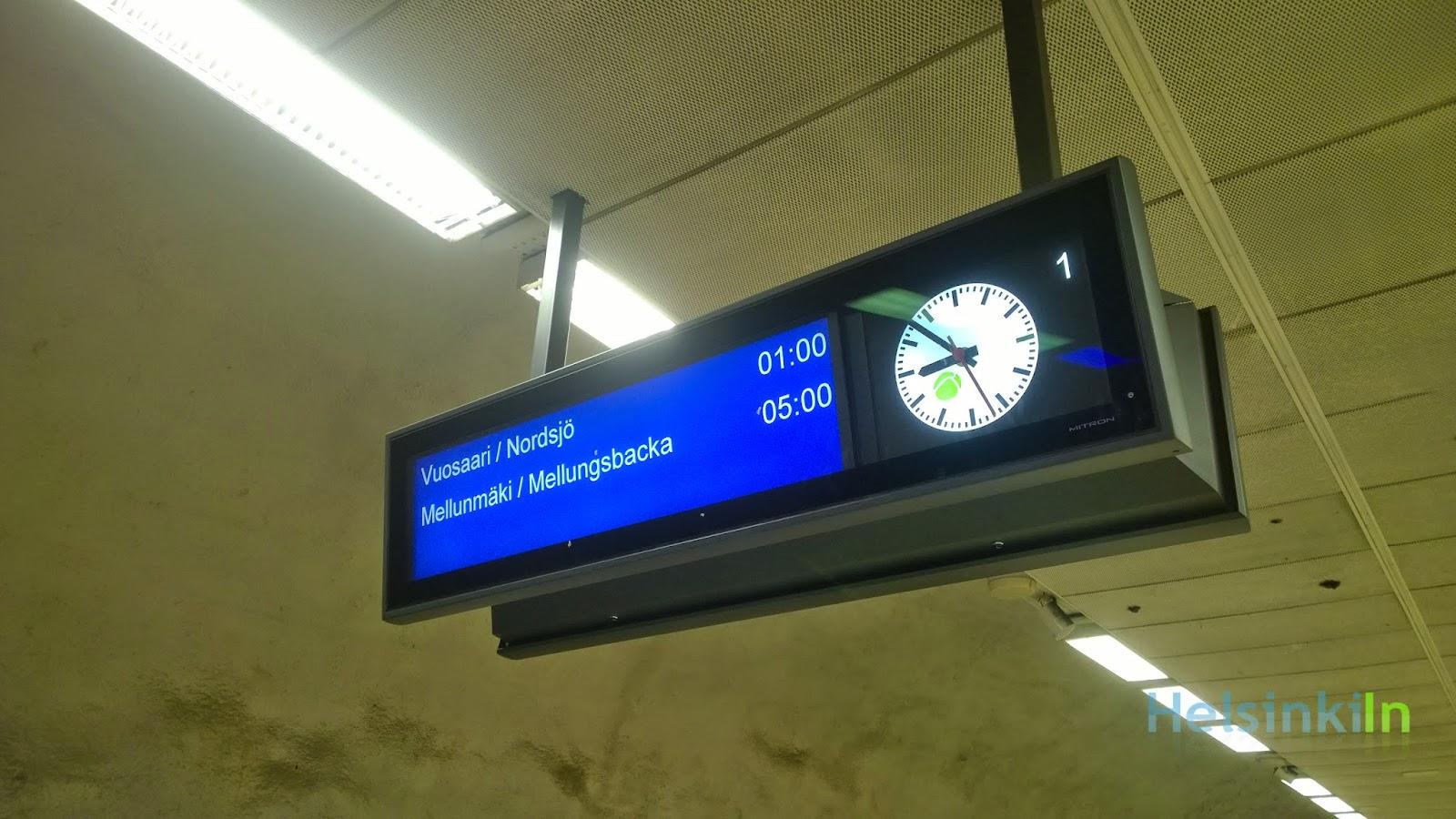 electronic metro sign
