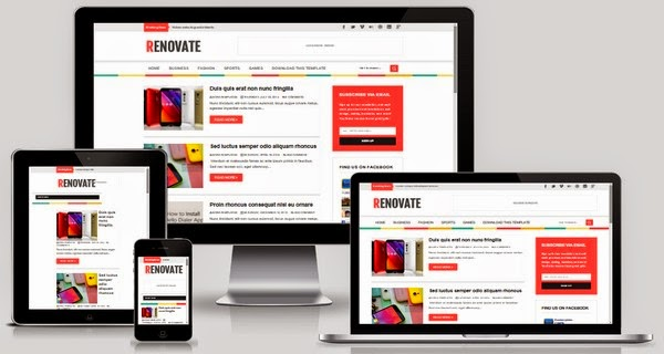 Renovate Responsive Blogger Template Free Download