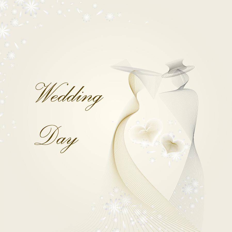 結婚祝い カードテンプレート wedding template vector イラスト素材2