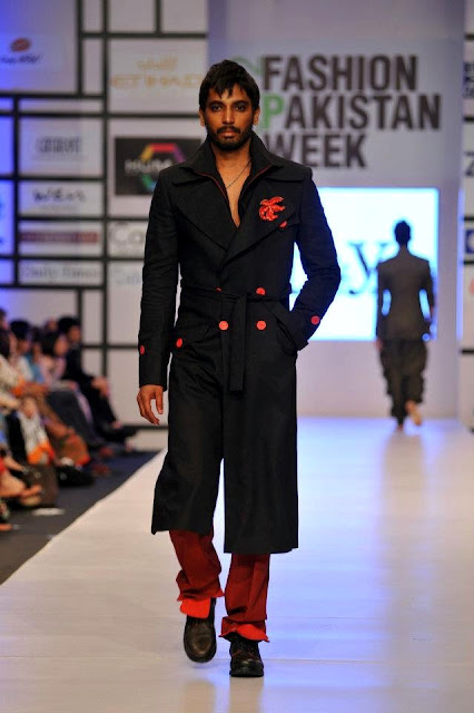 LATEST MENSWEAR LONG COAT WITH RED TROUSER