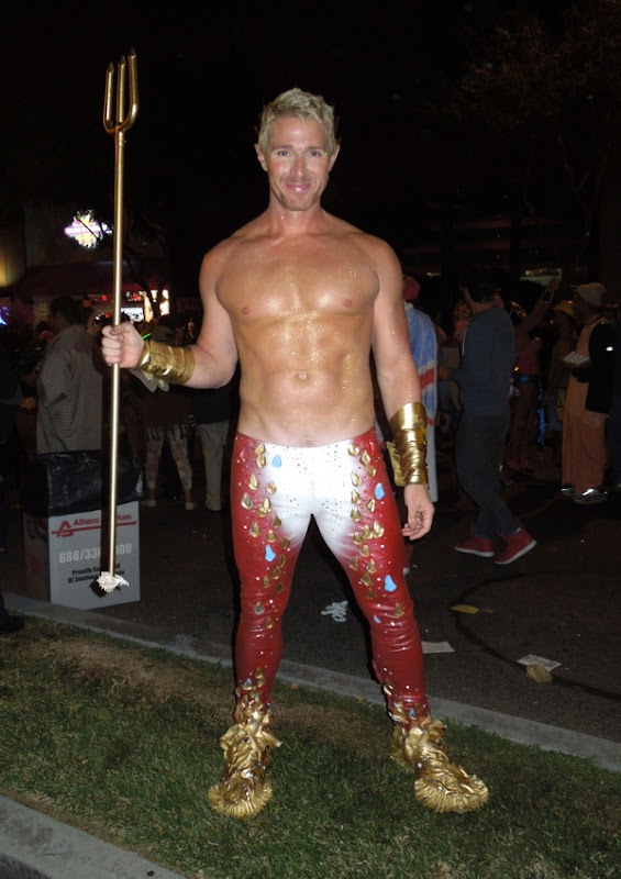 Poseidon costume West Hollywood Halloween Carnaval