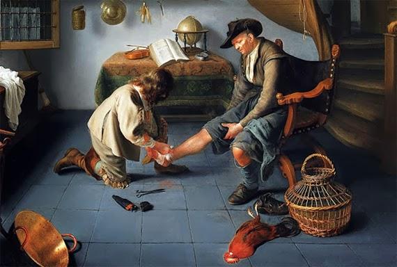 Barber Etymology : isaac koedijck, ?barber-surgeon tending a peasant?s foot,? via ...