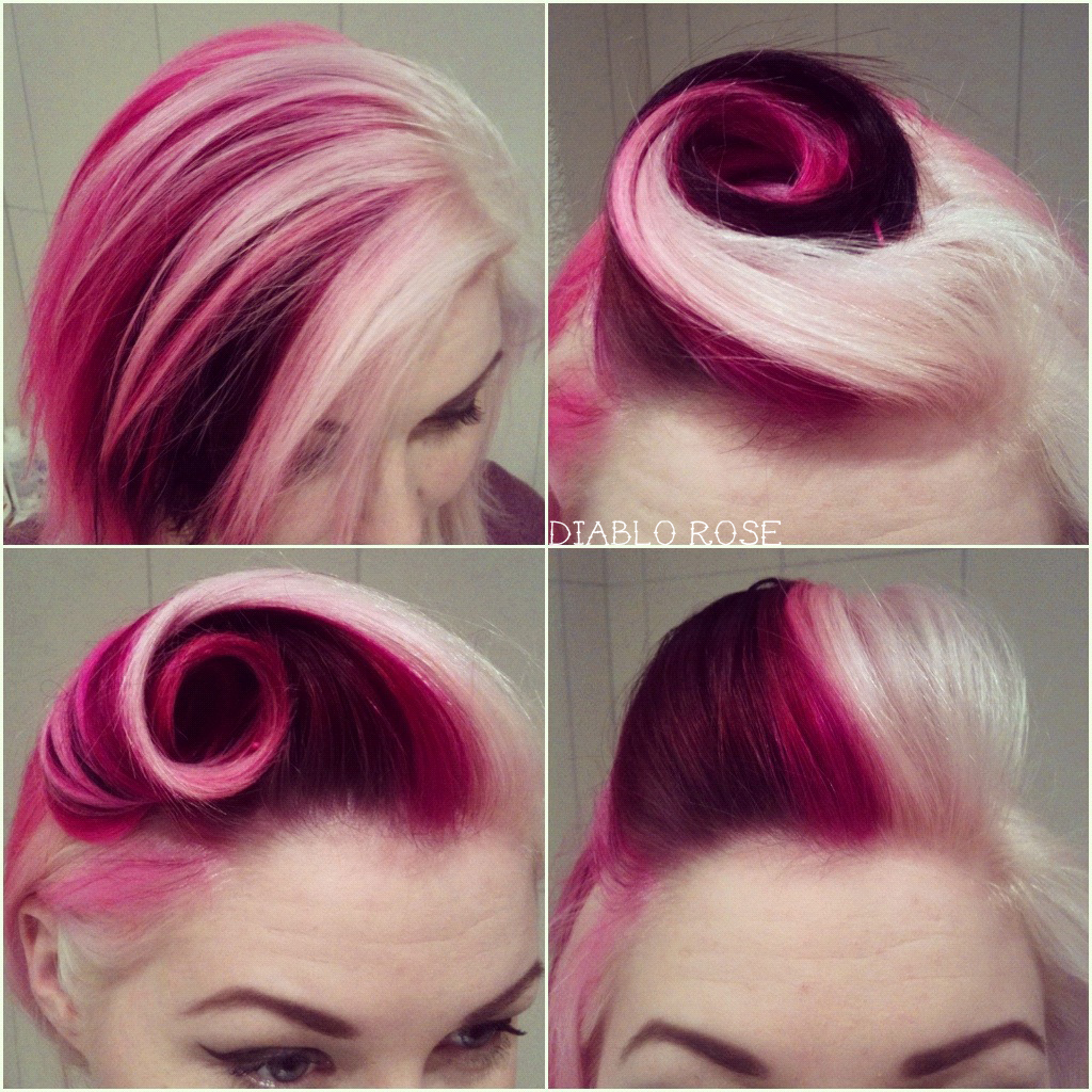 spread to the surrounding hair and the hair style which has been
