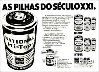 pilhas National, os anos 70; propaganda na década de 70; Brazil in the 70s, história anos 70; Oswaldo Hernandez;