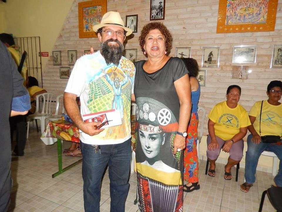 Presidente da SOBAC, Ivan Marinho, com Rosa Bezerra