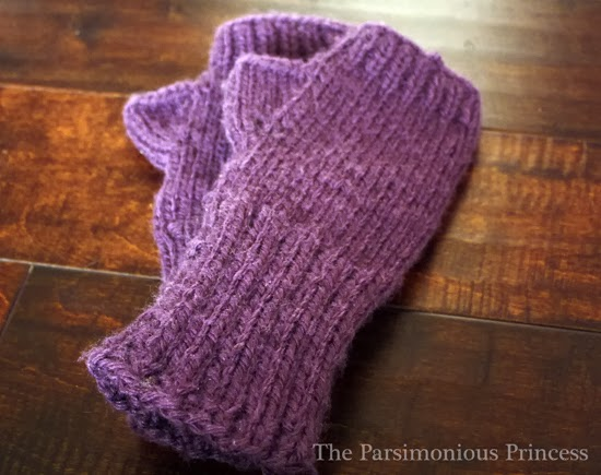 Fingerless Gloves Knitting Pattern Two Needles : The Parsimonious Princess: Wrapping Up 2013: The Years ...