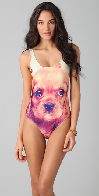 We Are Handsome Dog Print One Piece