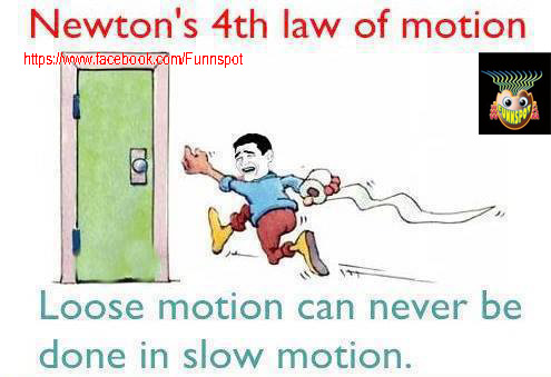 Newton's 4th law of motion-Funny image