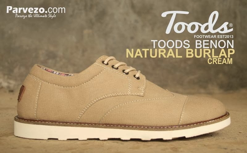 Toods Benon Natural Burlap Cream