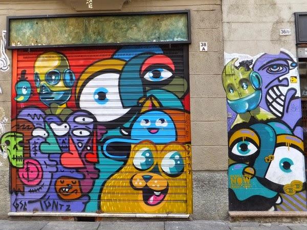 Turin Italie Via Po street art