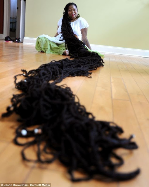Asha Mandela Sets World Record For Longest Dreadlocks