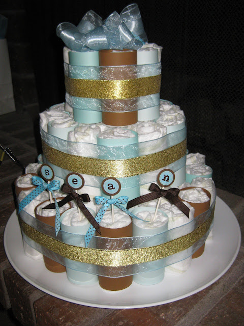 live tr s chic baby shower diaper cake