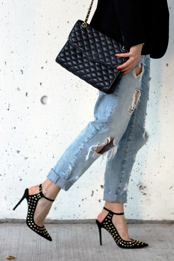 curated by amy studded pumps
