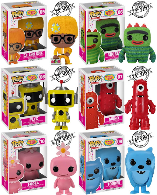 Yo Gabba Gabba! Pop! Television Series by Funko - DJ Lance Rock, Brobee, Plex, Muno, Foofa &amp; Toodee Vinyl Figures