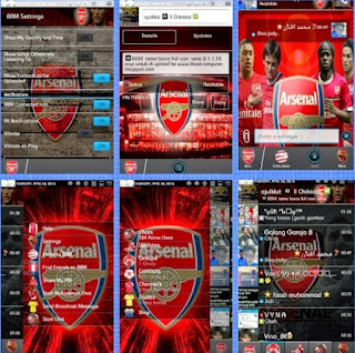 BBM mod Arsenal for Android