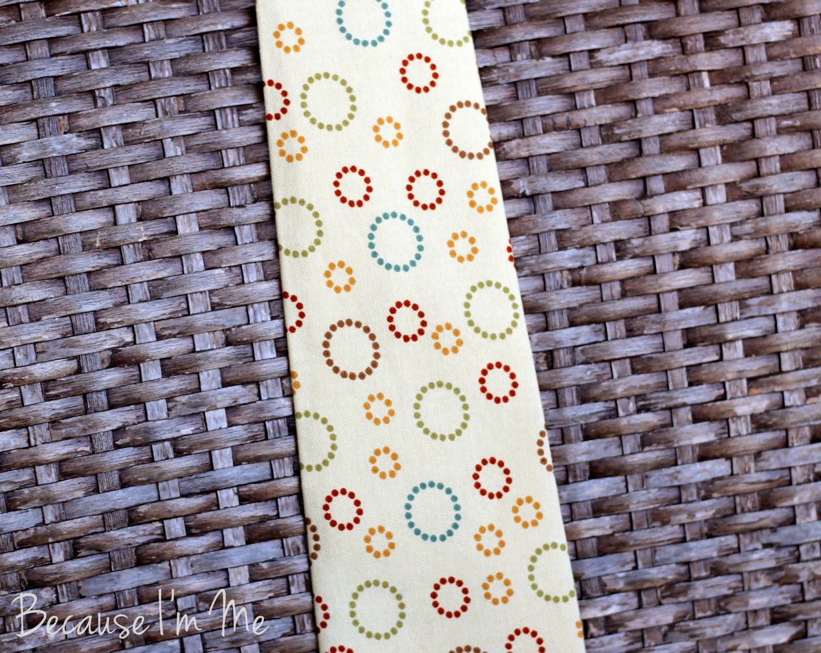 Because I'm Me yellow circular geometric print cotton necktie for men and boys