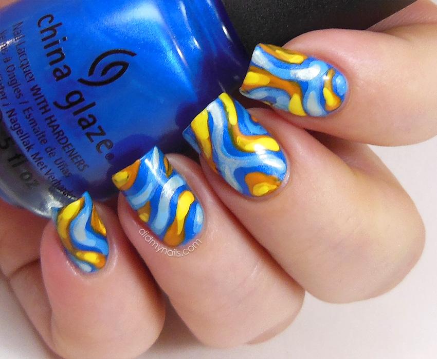 Tropical fish nail art