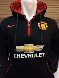 gambar detail terbaru musim depan Jaket hoodie Manchester United warna hitam terbaru musim 2015/2016 di enkosa sport