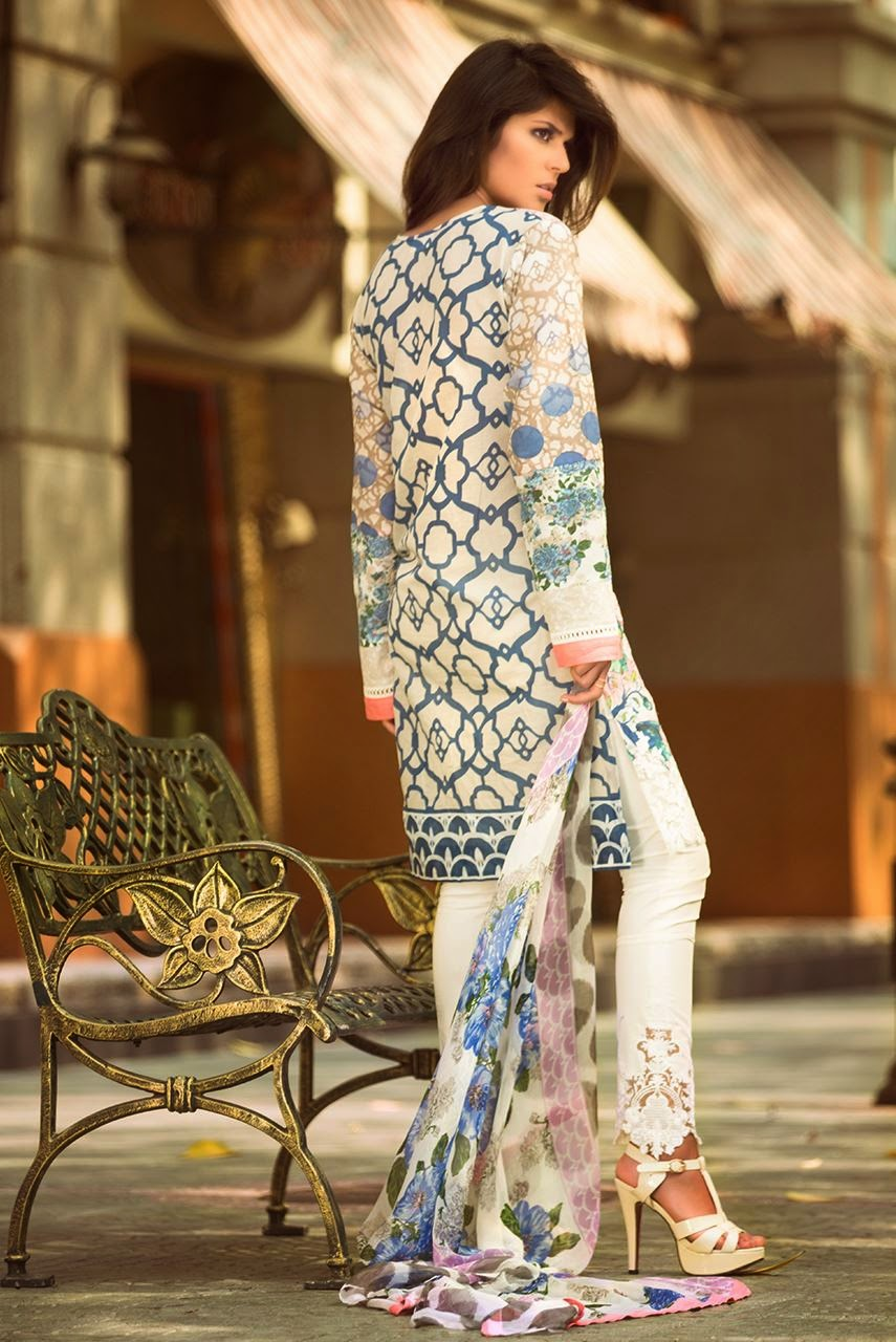 Latest pakistani summer lawn collection