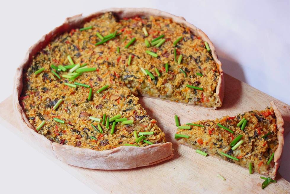 Gemüse Linsen Kuchen