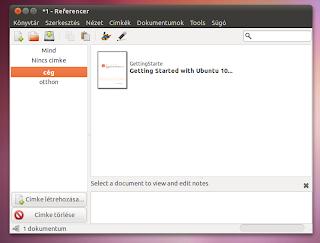 Ubuntu Linux dokumentum rendszerező