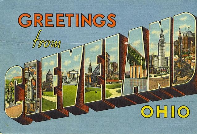Cleveland Postcard ~ 1955 #vintage #cleveland #1950s #ohio