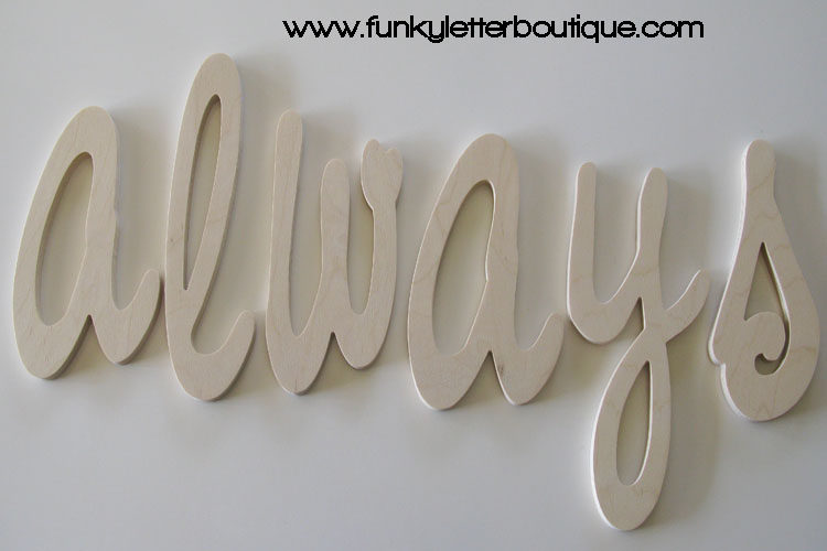 Home Decor Wooden Letters